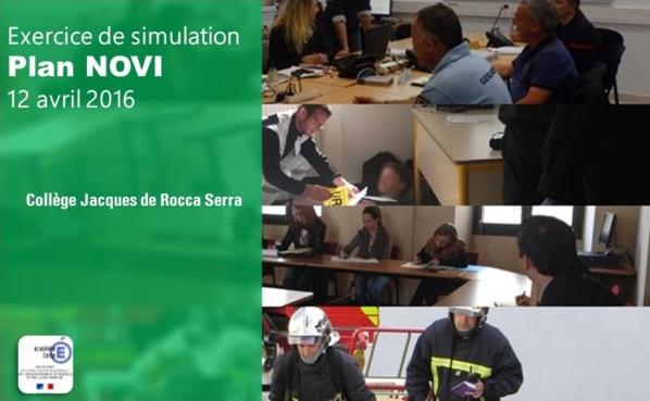 Exercice de simulation de crise le 12 avril 2016