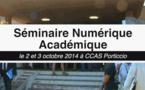 Le séminaire numérique académique des 2 et 3 octobre 2014