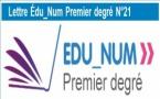 La lettre Édu_Num premier degré n°21